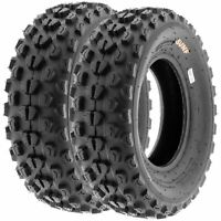 Pair of 2, 22x7-10 22x7x10 Quad ATV All Terrain AT 6 Ply Tires A017 by SunF