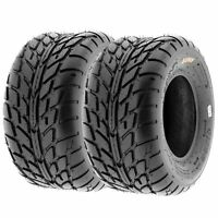Pair of 2, 18x9.5-8 18x9.5x8 Quad ATV All Terrain AT 6 Ply Tires A021 by SunF