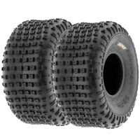Pair of (2) 16x8-7 16x8x7 ATV All Terrain AT 6 Ply Tires A011 by SunF