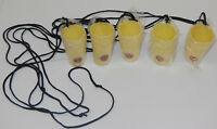 5 Bacardi Rum Drinking Shot Glass Shotglasses Tiki Necklace Yellow Bar Set NEW