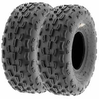 Pair of 2, 20x7-8 20x7x8 Quad ATV All Terrain AT 6 Ply Tires A029 by SunF
