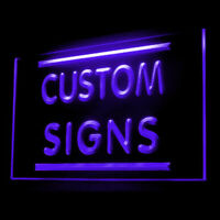 Personalized Customize Custom Made Your Text For Shop Display LED Light Sign