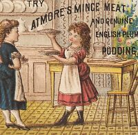 Atmore Mince Meat Plum Pudding Christmas Tree Victorian Advertising Trade Card