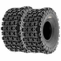 Pair of (2) AT 20x11-8 20x11x8 All Terrain ATV 6 Ply Tires A027 by SunF