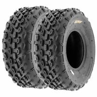 Pair of 2, 19x7-8 19x7x8 Quad ATV All Terrain AT 6 Ply Tires A015 by SunF