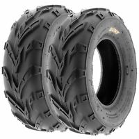 Pair of (2) 16x7-8 16x7x8 ATV UTV All Terrain AT 6 Ply Tires A004 by SunF