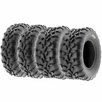 Set of 4, 25x8-12 & 25x10-12 Replacement ATV UTV 6 Ply Tires A010 by SunF