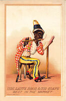 1800's Lautz Bros. & Cos Soaps Advertising Trade Card Black Ethnic Musical Flute