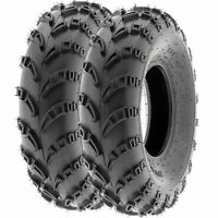 Pair of 2, 23x7-10 23x7x10 Quad ATV All Terrain AT 6 Ply Tires A028 by SunF