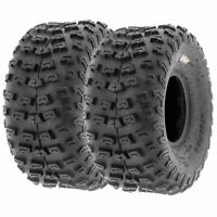 Pair of (2) 22x10-8 22x10x8 Quad ATV All Terrain AT 6 Ply Tires A030 by SunF