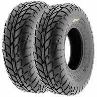 Pair of (2) 20x7-8 20x7x8 ATV Street & Flat Track 6 Ply Tires A021 by SunF