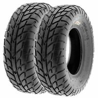 Pair of 2, 25x8-12 25x8x12 Quad ATV UTV All Terrain AT 6 Ply Tires A021 by SunF