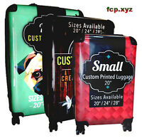 FULL COLOR CUSTOM PRINTED POLYCARBONATE LUGGAGE 3 PIECE SET STURDY