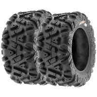Pair of 2, 22x10-12 22x10x12 Quad ATV All Terrain AT 6 Ply Tires A033 by SunF