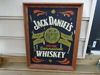RARE Handmade Jack Daniel's Old Time Tennessee Whiskey Picture Sign Wood Frame