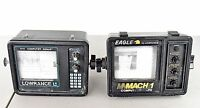 2 Lowrance Fish Finders X-15 Computer Sonic & Eagle Mach I For Parts or Repair