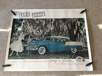 1955 Chevrolet original body by fisher  original dealership showroom poster