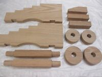 Cannon Carriage Naval Kit Oak For 15