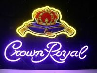 New Crown Royal Whiskey Real Neon Sign Beer Bar Light FREE SHIPPING Best Design