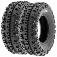 Pair of 2, 23x7-10 23x7x10 Quad ATV All Terrain AT 6 Ply Tires A027 by SunF