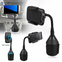 Car Mount Adjustable Gooseneck Cup Holder Cradle Stand For Cell Phone Universal $13.98