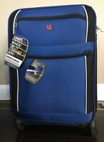NEW NWT SWISSGEAR WENGER 24quot; 360 Spinner WHEELED LIGHTWEIGHT LUGGAGE BAG BLUE