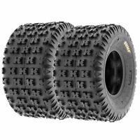 Pair of 2, 22x11-9 22x11x9 Quad ATV All Terrain AT 6 Ply Tires A031 by SunF