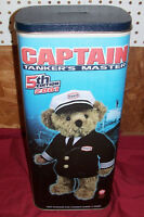 "Old Texaco Teddy Bear Captain Tanker's Master Ship's 16"" Gas Station Ad Vintage"