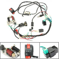50CC-125CC CDI WIRE HARNESS STATOR ASSEMBLY WIRING KIT FOR ATV ELECTRIC QUAD USA