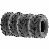 Set of 4, 19x7-8 & 20x10-10 Replacement ATV UTV 6 Ply Tires A004 by SunF