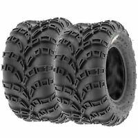 Pair of 2, 22x10-10 22x10x10 Quad ATV All Terrain AT 6 Ply Tires A028 by SunF