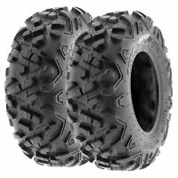 Pair of 2, 23x7-10 23x7x10 Quad ATV All Terrain AT 6 Ply Tires A051 by SunF