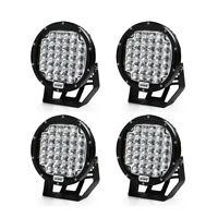 4pcs Xprite 9 Inch 96W Round LED Spot Cree Driving Work Light Truck Bumper Black