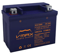 VMAX XCA120R9 ATV 12V 9AH NANO GEL BATTERY YTX9-BS REPL FOR HONDA TRX700XX 08-13
