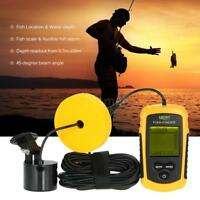 LUCKY Fish Finder LCD Color Screen Wired 100M Depth Sonar Portable SALE I2T1