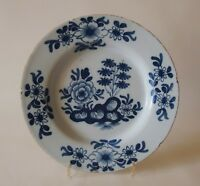 18th ENGLISH 'DELFT' DELFTWARE PLATE