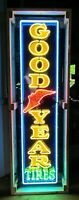 Old Goodyear Vertical Porcelain Sign with Neon 15