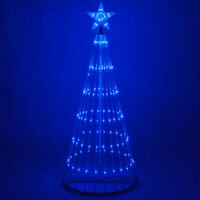 LED Outdoor Christmas Light Show Motion Tree Blue Color 3D Display Decor NEW