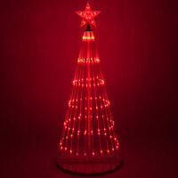 LED Outdoor Christmas Light Show Motion Tree Red Color 3D Display Decor NEW