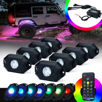 Xprite 8PC Victory Series Remote Control RGB LED Rock Lights for Jeep ATV UTV