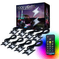 Xprite 8PC Z-Force Remote Control RGB LED Rock Lights for Jeep Truck UTV ATV