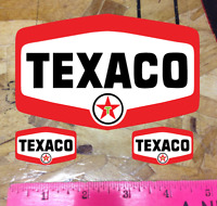 5quot; TEXACO SHIELD GASOLINE DECALS GAS AND OIL STICKER Vintage 3 for 1
