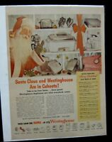 Vintage Mid Century Christmas Westinghouse Advertising Toasters Mixers Santa