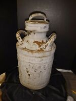 Antique Ellisco 5 Gallon Sunoco Metal Gas Delivery Can Embossed Service Station