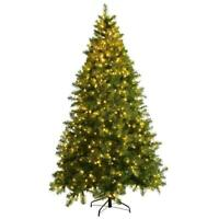 7ft Pre-Lit Christmas Tree Artificial PVC Spruce Hinged with 700 LED Lights