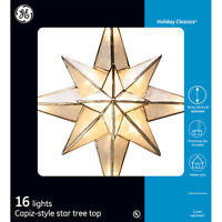 GE 10-in Star Off-White Christmas Copiz Style Star Tree Topper