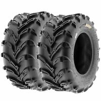 Pair of 2, 22x11-9 22x11x9 Quad ATV All Terrain AT 6 Ply Tires A024 by SunF