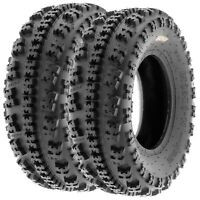 Pair of 2, 20x7-8 20x7x8 Quad ATV All Terrain AT 6 Ply Tires A027 by SunF