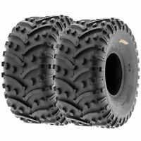 Pair of 2, 22x11-8 22x11x8 Quad ATV All Terrain AT  Ply Tires A032 by SunF