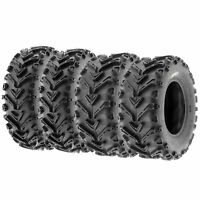 Set of (4) 24x8-12 & 24x10-11 ATV UTV All Terrain AT 6 Ply Tires A041 by SunF